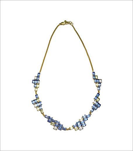 Maithili Kabre Blue Brick Pixel Necklace_GTL_Hauterfly