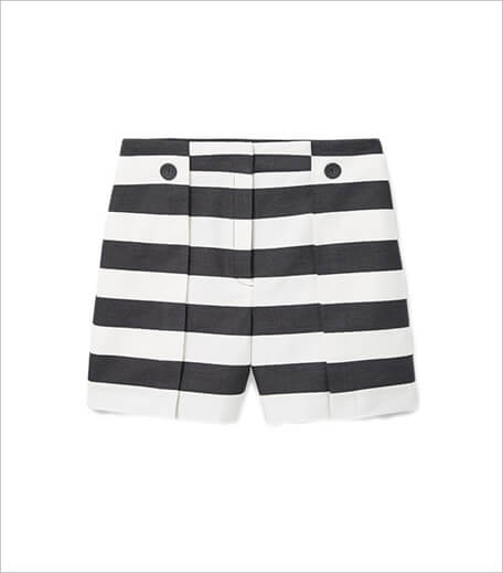 Mango Cotton striped shorts_hauterfly