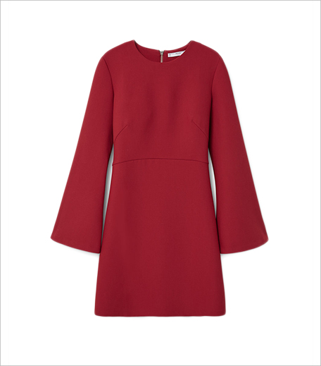 Mango Red Flared Sleeves Dress_Hauterfly