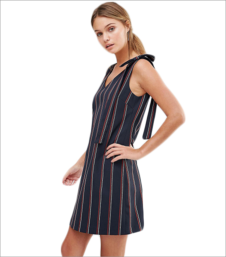 Oasis Stripe Bow Shoulder Dress_Hauterfly