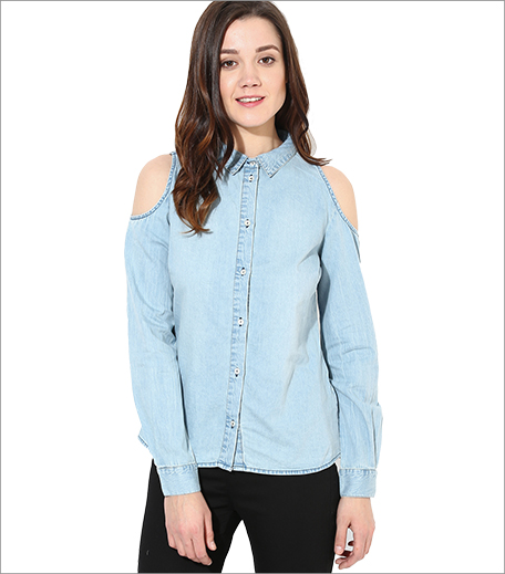 Only Blue Denim Shirt_A College It Girl's Wardrobe_Hauterfly