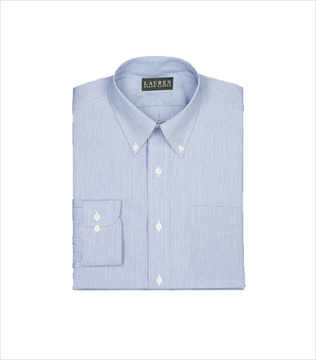 Ralph Lauren Hairline Broadcloth Dress Shirt_Hauterfly