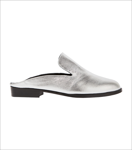 Robert Clergerie Alicel Metallic Leather Slippers_Hauterfly