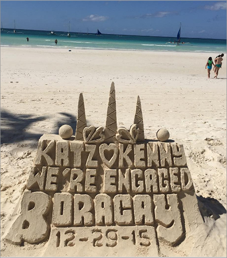 Sand Castle Engagement