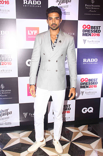 Saqib Saleem at GQ Best Dressed Men 2016 held at Four Seasons Hotel, Mumbai _ 02 June 2016