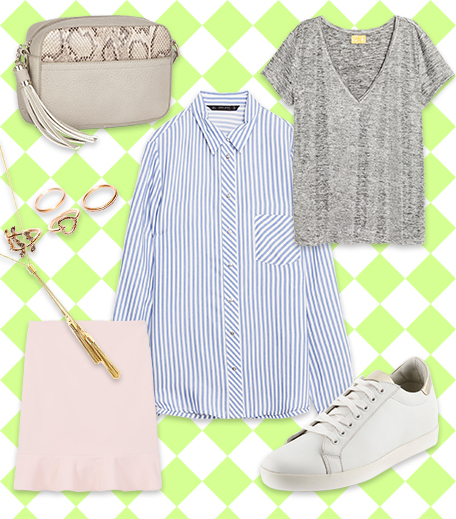 Striped Shirt With Skirt & Top _Hauterfly3 Ways To Style A Striped Shirt_Hauterfly