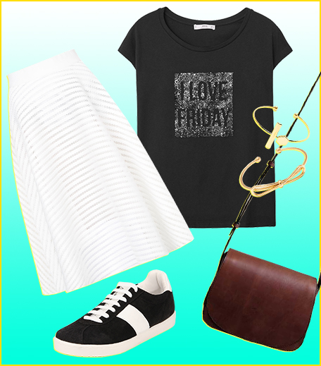 Style A Graphic Tee With A Mesh Midi Skirt__Hauterfly