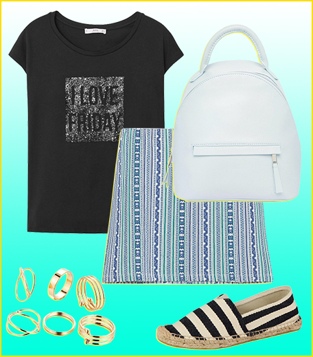Style A Graphic Tee With A Mini Skirt__Hauterfly