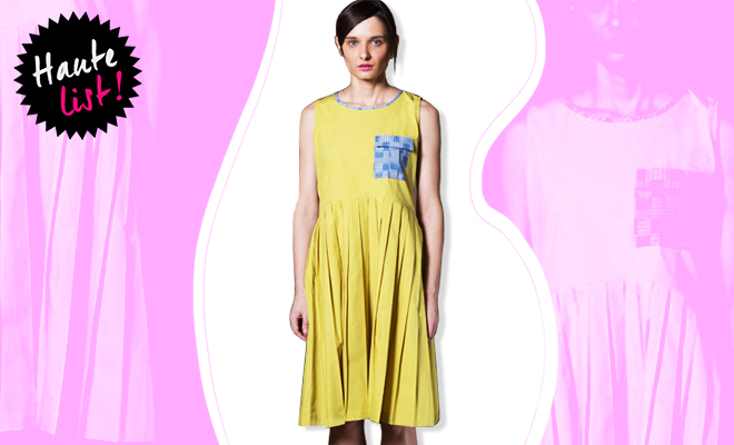 The Meraki Project_Yellow Pleated Dress_Hauterfly