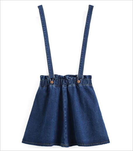 The Style Syndrome Blue Strap Denim Skirt_Hauterfly