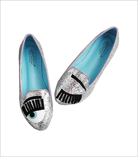 Top Knot Closet Glitter Cartoon Eye Flats_Hauterfly