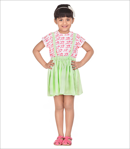 Twinkle Birdy Pink Suspender Skirt With Top_Hauterfly