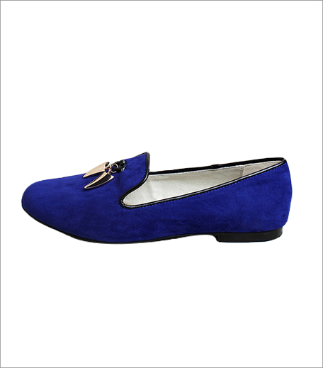 Vajor Faux suede Blue Loafers_Hauterfly