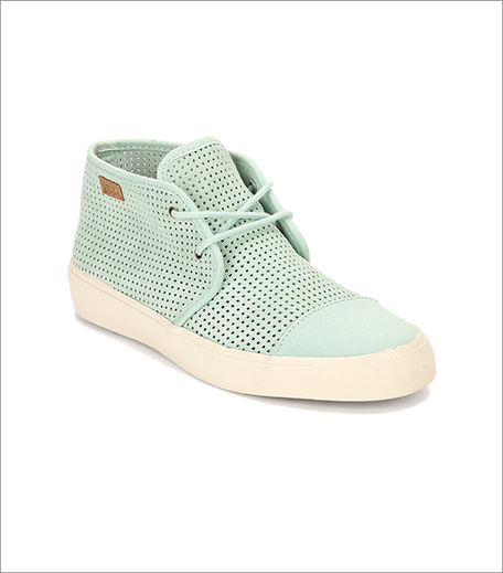 Vans Rhea Green Lazer Cut Casual Sneakers_Hauterfly