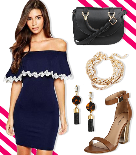 What To Wear On A First Date_Off Shoulder Dress_Hauterfly