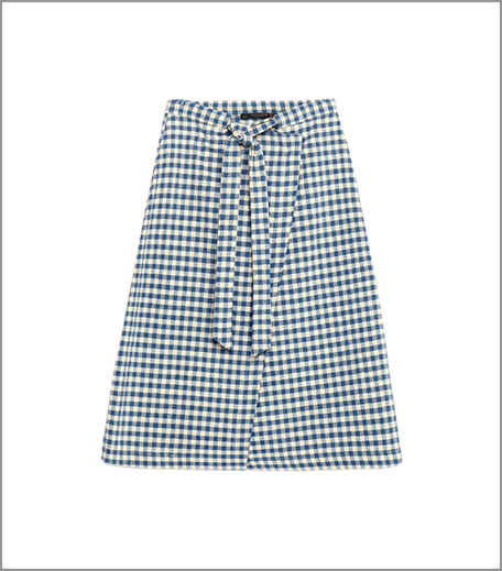 Zara Checked Skirt With Midi Bow_Hauterfly