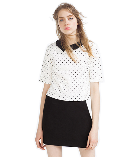 Zara Top With Peter Pan Collar_Hauterfly